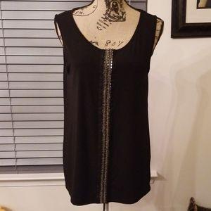 Black embellished top. EUC.